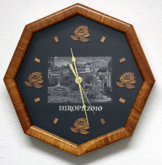 A laser etched clock.
