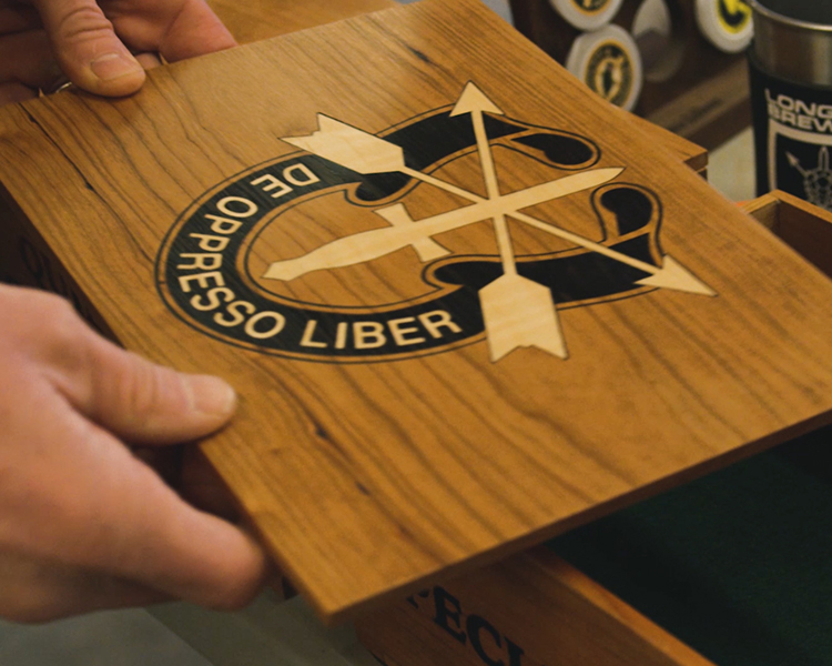 Laser Engraved Military Keepsake Box by Guerrilla Outfitters